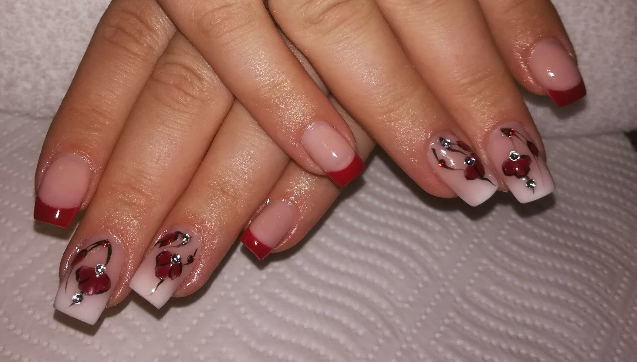 farbenfrohe French-Nails von Melinda's Nails